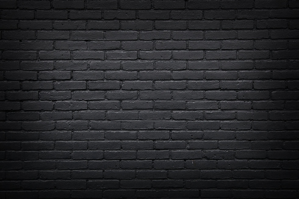 horizontal part of black painted brick w