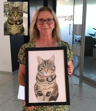 Gold FM legend Toni Tenaglia with her portrait