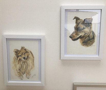 Portraits on display in a client's home
