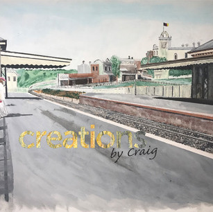 Canterbury Train Station, 1908. Paint on Canvas