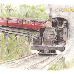 ORIGINAL Puffing Billy Train at Belgrave