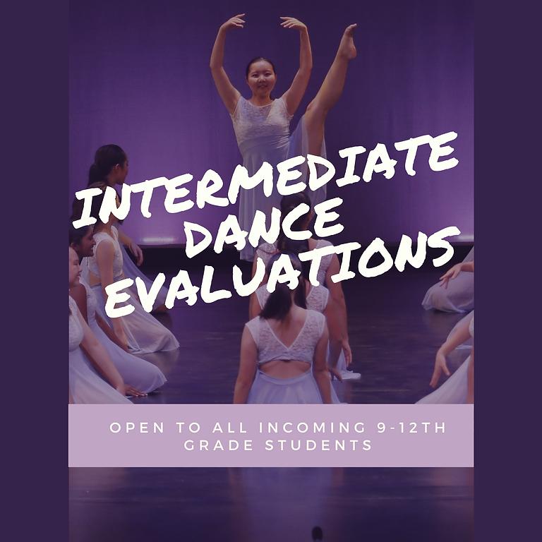 Intermediate Dance Evaluations