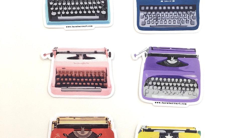 Typewriter Sticker Pack