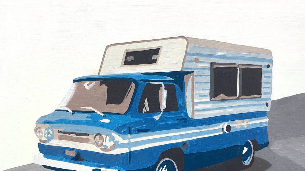 Truck Camper Blue