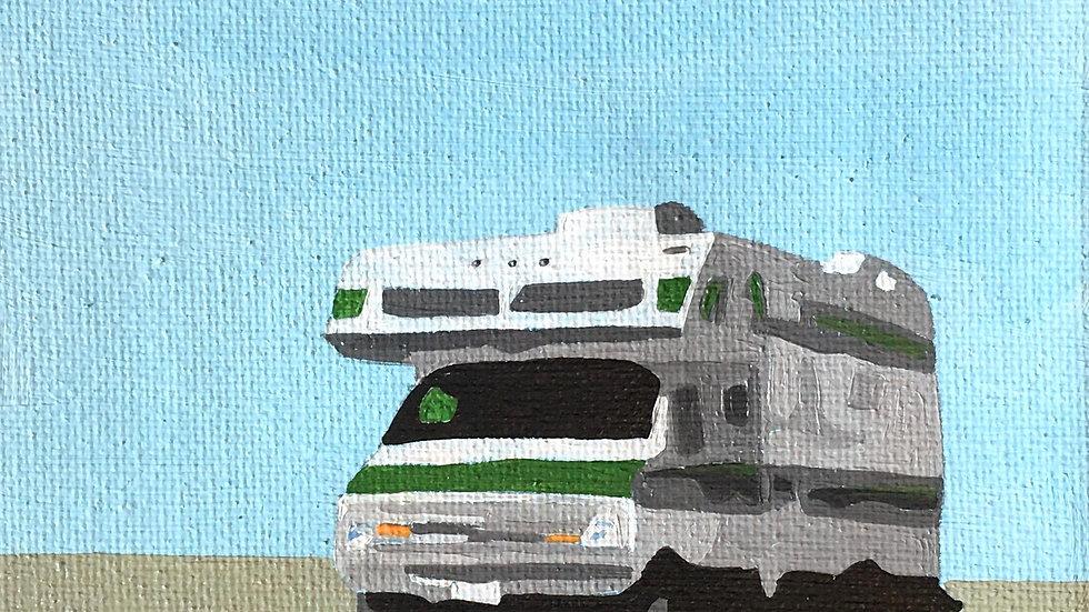 Truck Camper Green