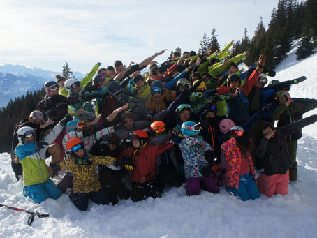 Camp de ski en images
