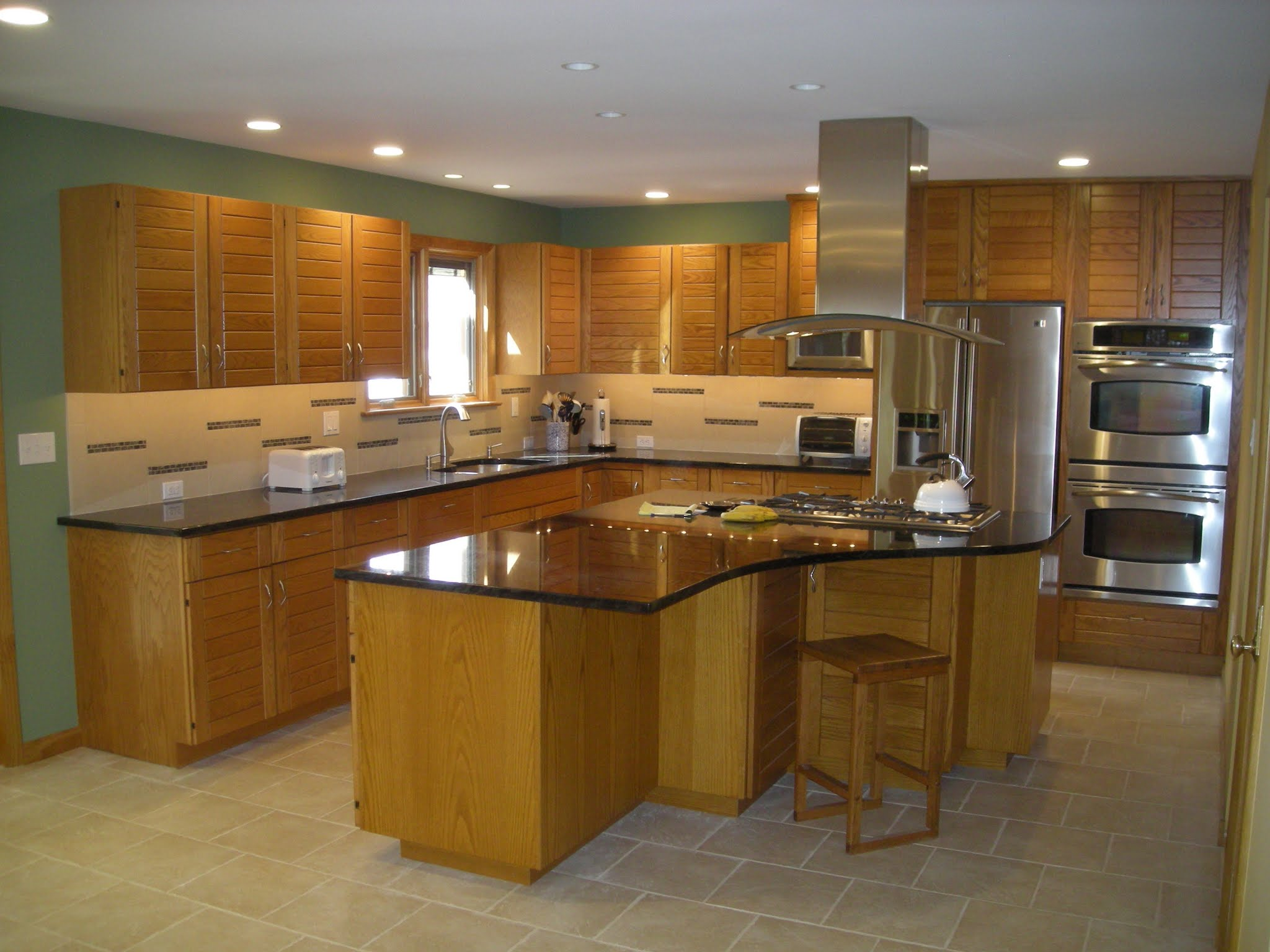 Picasa - Kitchen renovation matching new cabinets to existing, new granite count