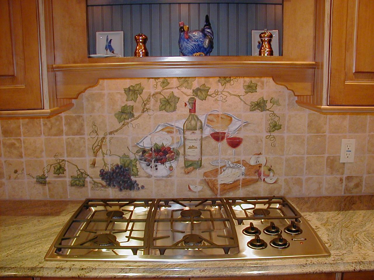 Picasa - Custom painted cooktop backsplash mural.jpg