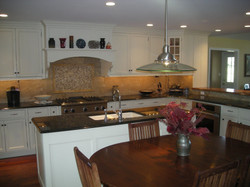 Picasa - Kitchen enlargement using Roger Wright custom cabinets and granite coun