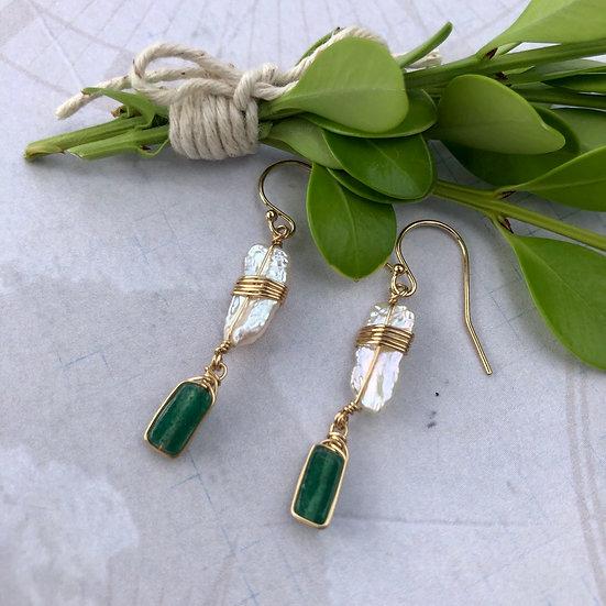 Green Paradise Earrings