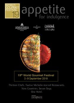 World Gourmet Festival 2018