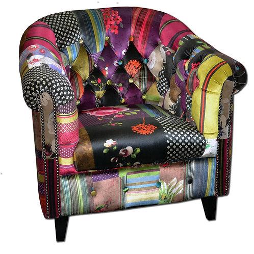 Sheffield Tub Chair Abstract Purple