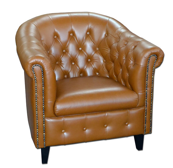 Spencer Tub Chair Cracked Tan Leather