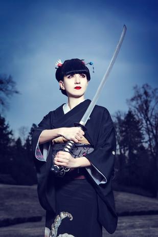 Japanese sword dance Geisha show
