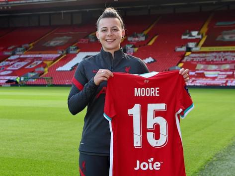 Meikayla Moore é a quarta contratação das Liverpool Women