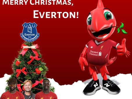 De Shakin' Stevens para a Kop, Merry Christmas, Everton!