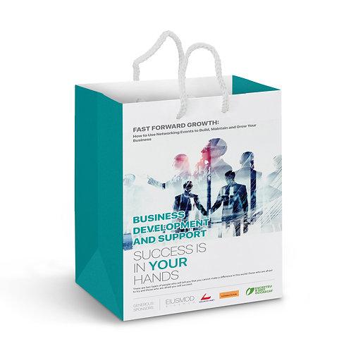 116936 Medium Laminated Paper Carry Bag – Full Colour