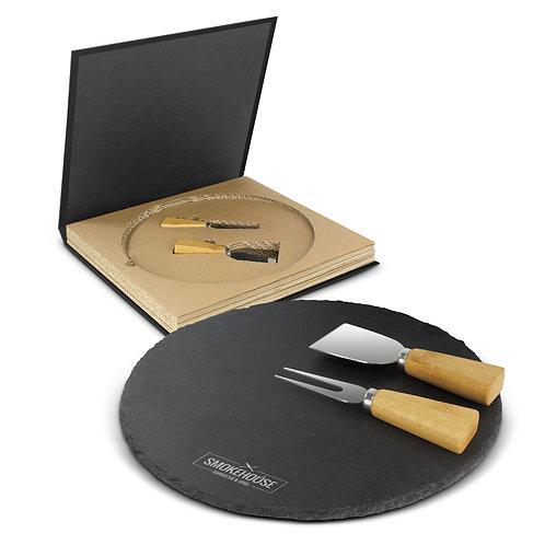 116729 Ashford Slate Cheese Board Set