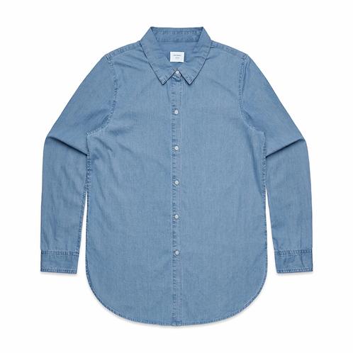 AS Colour - Womens Blue Denim Shirt