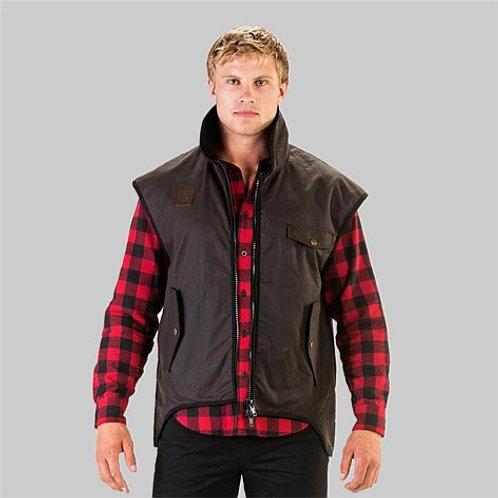Swanndri Men's Levels Oilskin Vest with Cotton Lining
