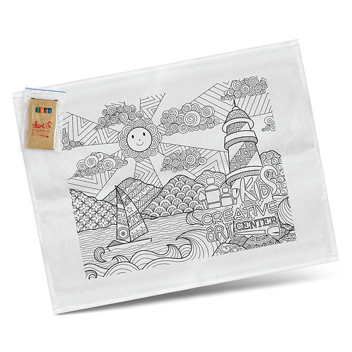 116594 Cotton Colouring Tea Towel