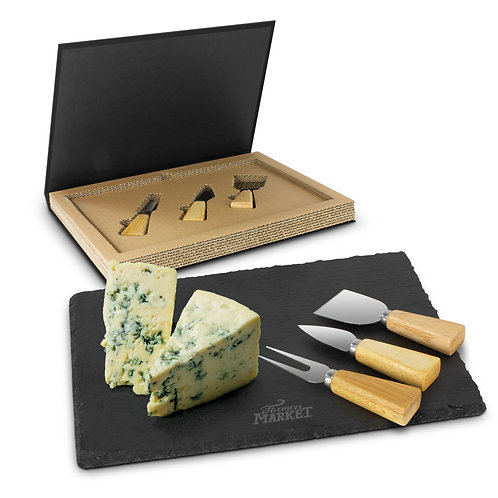 116730 Montrose Slate Cheese Board Set