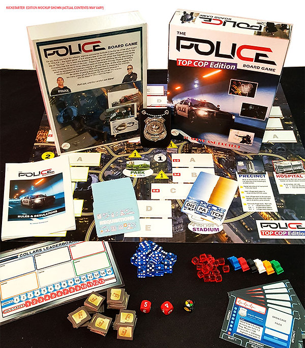 The Police Board Game contents
