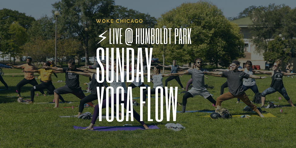 Yoga in the Park | IN PERSON WOKE YOGA SUNDAY'S in June | At Humboldt Park