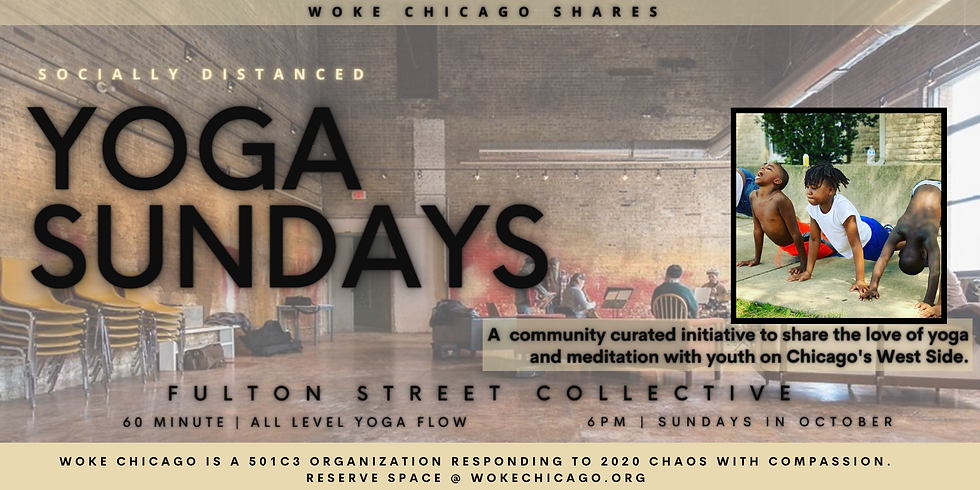 WOKE YOGA SUNDAY in October | At Fulton Street Collective