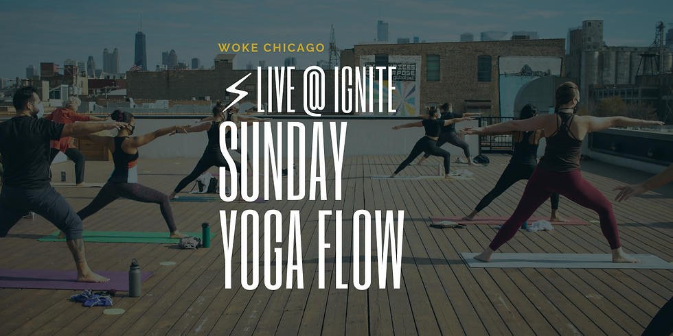 ROOFTOP* Yoga | IN PERSON WOKE YOGA SUNDAY'S in April | At Ignite Glass Studio | REGISTRATION REQUIRED