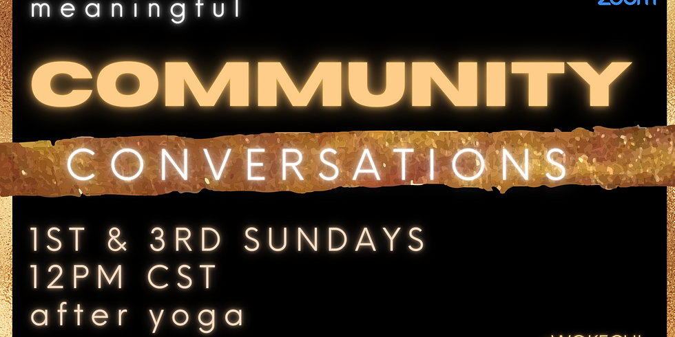 1st Sunday CommUNITY Conversations