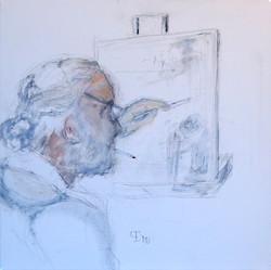 "423 • ""Maler""40 x 40 cm"