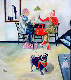"""507 • """"Ich Gehe II""""80 x 30 cm, Ölmalerei"""