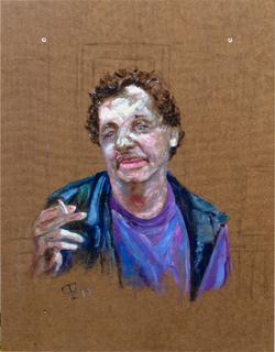"""Draussen"" Ölmalerei 40 x 40 cm"