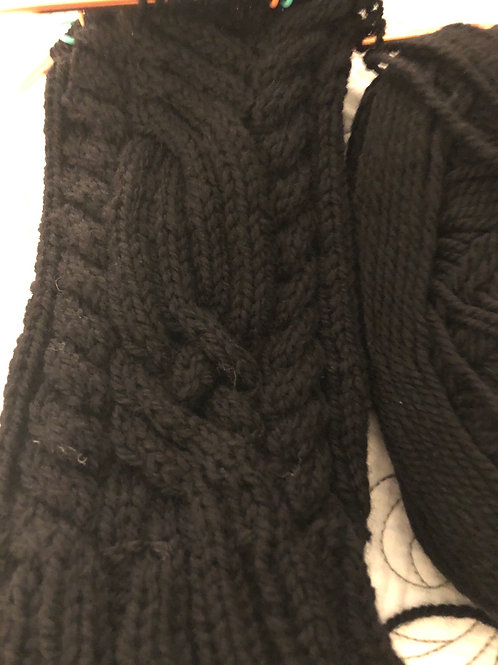Celtic Cable leg warmers
