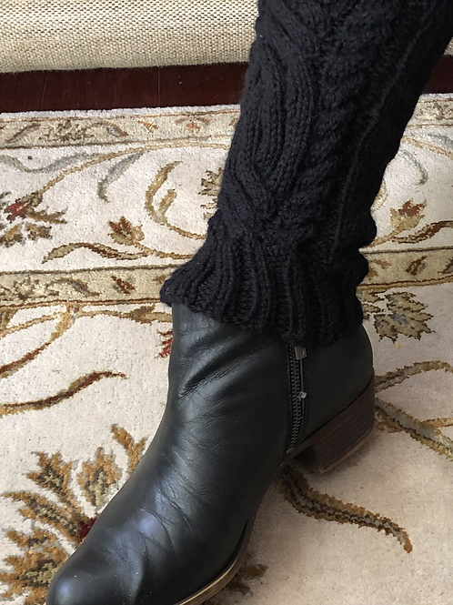 Classic Celtic cable leg warmers