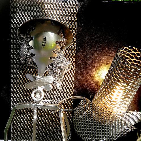 Princesse Tableau+encadrement 34x34cm +éclairage 220v