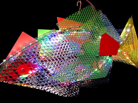 CHICO Eclaire votre Environnement  sculpture métal 45x26x4cm , 0,900gr