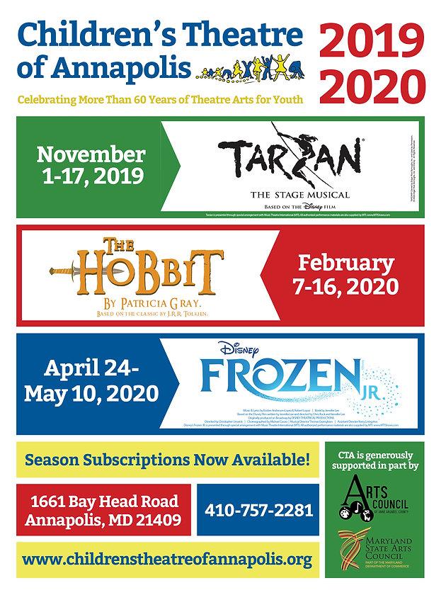 Cta Holiday Schedule 2020 CTA Announces Its 2019 2020 Season | Theatre for Kids | Children's