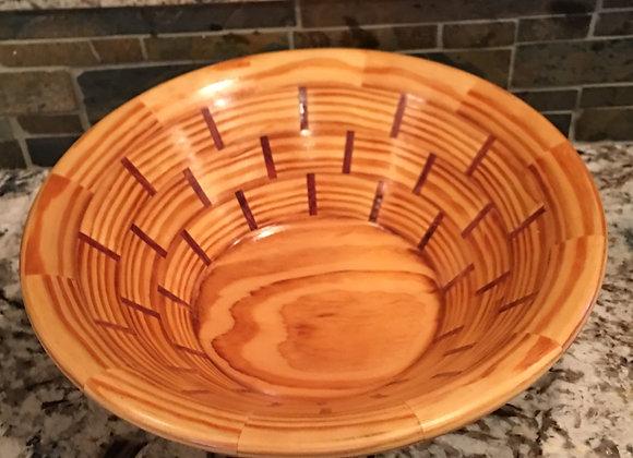 Segmented 70 year old Pine Bowl
