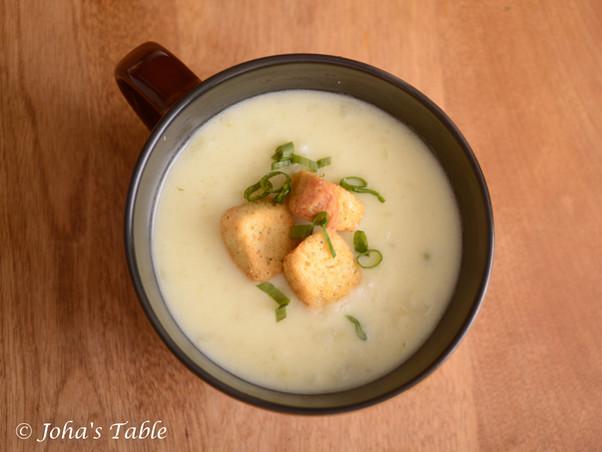 Sopa de papa de Joha - Receta rapidita (Crema de papa)