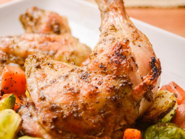 Sirviendo comidas calientes en Lake Charles – Pollo al horno