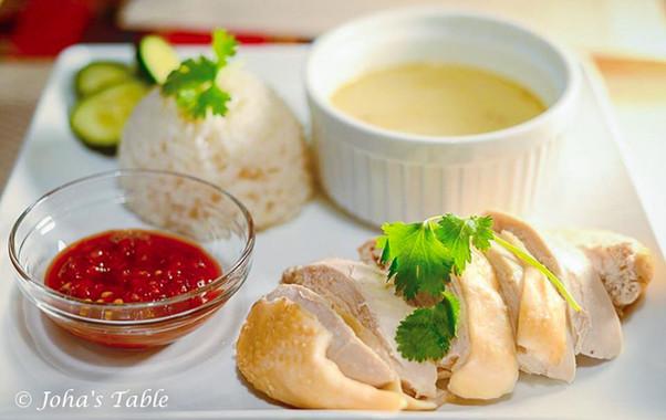 Bailando salsa y arroz con pollo de Singapur (Chicken rice)