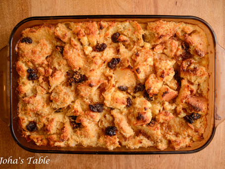 Bread pudding and leftovers