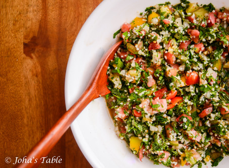 Tabbouleh salad with Beirut friends