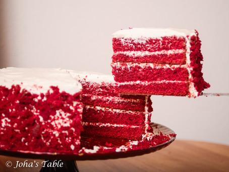 """El pastel """"red velvet"""" (o terciopelo rojo) de la abuela Vera"""