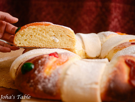 Rosca de Reyes, and extended Christmas (Mexican King Cake)