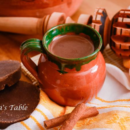 Tormenta polar y champurrado mexicano (Atole de chocolate)
