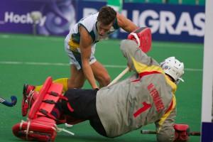 JWC 2013: Australia vs Spain Jeremy Hayward shots on the goal