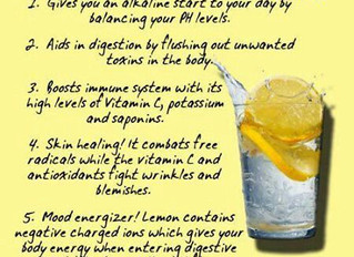 Start you day with hot lemon water!